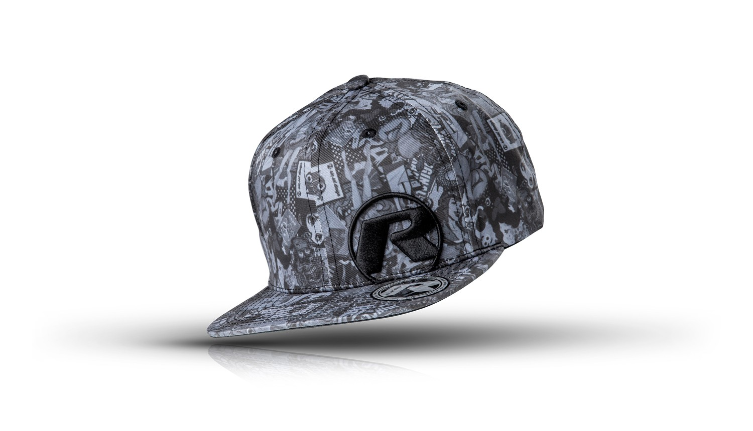 riesel-design-basecap-snapback-the-crown-stickerbomb-ultra-black-1
